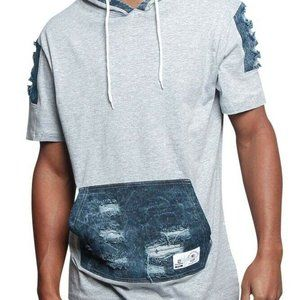 Southpole USA Run the Block Distressed SS Hoodie M
